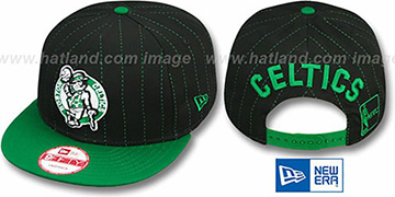 Celtics PINSNAP SNAPBACK Black-Green Hat by New Era