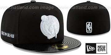 Celtics 'RETRO-HOOK' Black-White Fitted Hat by New Era