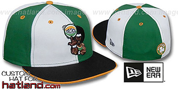 Celtics RETRO MAN PINWHEEL White-Kelly Fitted Hat
