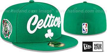 Celtics ROPE STITCH DRAFT Green Fitted Hat by New Era