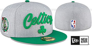 Celtics 'ROPE STITCH DRAFT' Grey-Green Fitted Hat by New Era