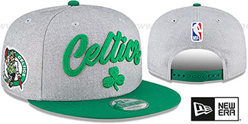 Celtics ROPE STITCH DRAFT SNAPBACK Grey-Green Hat by New Era