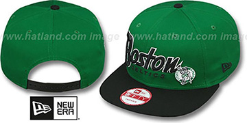 Celtics 'SNAP-IT-BACK SNAPBACK' Green-Black Hat by New Era