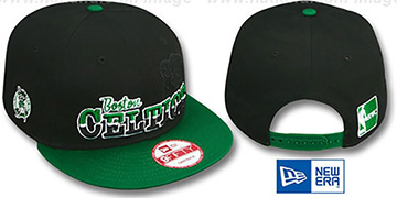 Celtics 'SPLIT-BLOCK SNAPBACK' Black-Green Hat by New Era