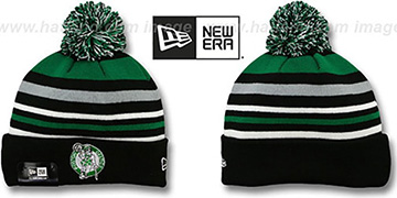 Celtics 'STRIPEOUT' Knit Beanie Hat by New Era