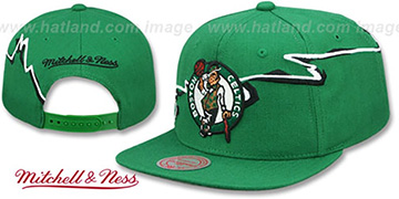 Celtics SWIFTER SNAPBACK Green Hat by Mitchell and Ness