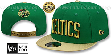 Celtics SWINGMAN SNAPBACK Green-Gold Hat by New Era