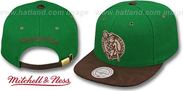 Celtics 'TC-BROWN SUEDE STRAPBACK' Hat Mitchell & Ness