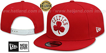 Celtics TEAM-BASIC SNAPBACK Red-White Hat by New Era