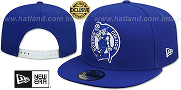 Celtics TEAM-BASIC SNAPBACK Royal-White Hat by New Era