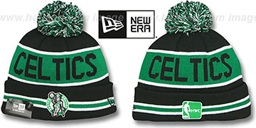 Celtics 'THE-COACH' Black Knit Beanie Hat by New Era