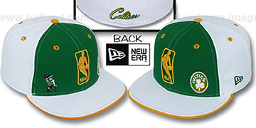 Celtics TRIPLE THREAT Kelly-White-Gold Fitted Hat by New Era