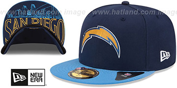 Chargers 2015 NFL DRAFT Navy-Blue Fitted Hat by New Era