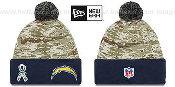 Chargers 2015 SALUTE-TO-SERVICE Knit Beanie Hat by New Era