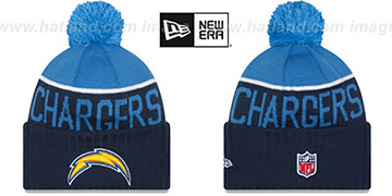 Chargers 2015 STADIUM Navy-Sky Knit Beanie Hat by New Era