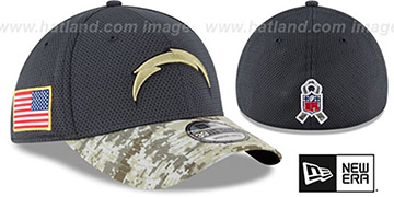 Chargers '2016 SALUTE-TO-SERVICE FLEX' Grey-Desert Hat by New Era