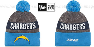 Chargers 2016 STADIUM Blue-Navy-Grey Knit Beanie Hat by New Era