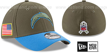 Chargers '2017 SALUTE-TO-SERVICE FLEX' Green-Blue Hat by New Era