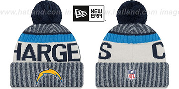 Chargers '2017 STADIUM BEANIE' Navy Knit Hat by New Era