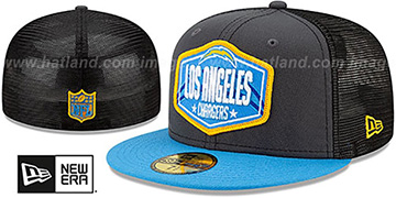 Chargers '2021 NFL TRUCKER DRAFT' Fitted Hat by New Era