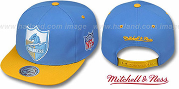Chargers '2T XL-LOGO SNAPBACK' Blue-Gold Adjustable Hat by Mitchell and Ness