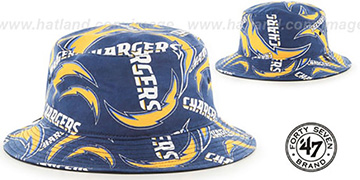 Chargers BRAVADO BUCKET Hat by Twins 47 Brand