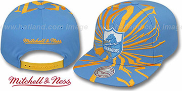 Chargers EARTHQUAKE SNAPBACK Sky Hat by Mitchell & Ness