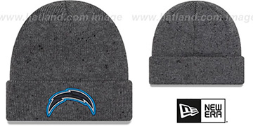 Chargers 'HEATHERED-SPEC' Grey Knit Beanie Hat by New Era