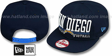 Chargers 'NFL LATERAL SNAPBACK' Navy Hat by New Era