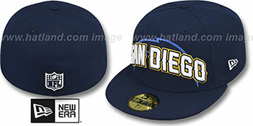 Chargers 'NFL ONFIELD DRAFT' Navy Fitted Hat by New Era