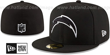 Chargers NFL TEAM-BASIC Black-White Fitted Hat by New Era