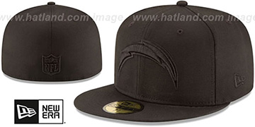 Chargers NFL TEAM-BASIC BLACKOUT Fitted Hat by New Era