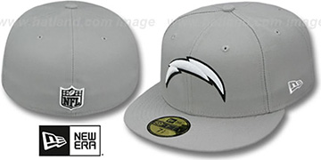 Chargers 'NFL TEAM-BASIC' Grey-Black-White Fitted Hat by New Era