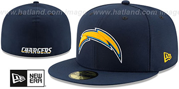 Chargers 'NFL TEAM-BASIC' Navy Fitted Hat by New Era