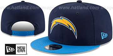Chargers TEAM-BASIC SNAPBACK Navy-Blue Hat by New Era