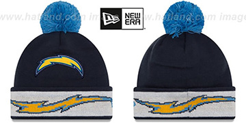 Chargers 'TEAM-RELATION' Navy-Sky Knit Beanie by New Era
