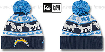 Chargers THE-MOOSER Knit Beanie Hat by New Era