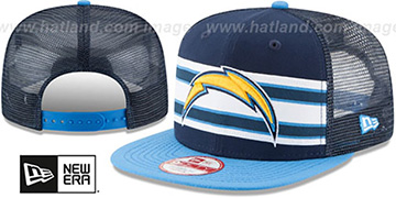 Chargers 'THROWBACK-STRIPE SNAPBACK' Navy-Sky Hat by New Era
