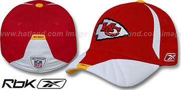 Chiefs '2008 SIDELINE-1 FLEX' Red Hat by Reebok