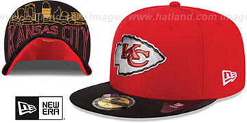 Chiefs '2015 NFL DRAFT' Red-Black Fitted Hat by New Era