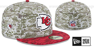 Chiefs '2015 SALUTE-TO-SERVICE' Desert-Red Fitted Hat by New Era