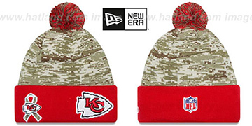 Chiefs '2015 SALUTE-TO-SERVICE' Knit Beanie Hat by New Era