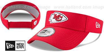 Chiefs '2017 NFL TRAINING VISOR' Red by New Era