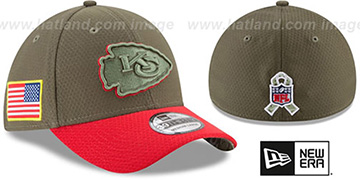 Chiefs 2017 SALUTE-TO-SERVICE FLEX Green-Red Hat by New Era