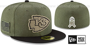 Chiefs 2018 SALUTE-TO-SERVICE Olive-Black Fitted Hat by New Era