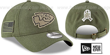 Chiefs 2018 SALUTE-TO-SERVICE STRAPBACK Olive Hat by New Era