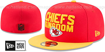 Chiefs 2018 SPOTLIGHT Red-Gold Fitted Hat by New Era