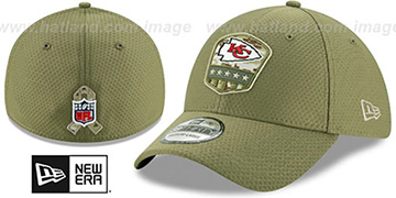 Chiefs 2019 SALUTE-TO-SERVICE FLEX Olive Hat by New Era