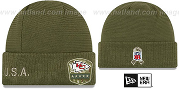 Chiefs 2019 SALUTE-TO-SERVICE Knit Beanie Hat by New Era