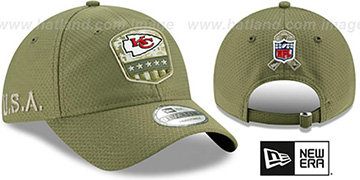 Chiefs 2019 SALUTE-TO-SERVICE STRAPBACK Olive Hat by New Era